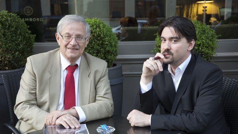 Professeur Dautzenberg à côté de Brice Lepoutre (Président de l'AIDUCE)