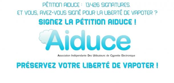 aiduce, cigarette électronique, e-cigarette, pétition