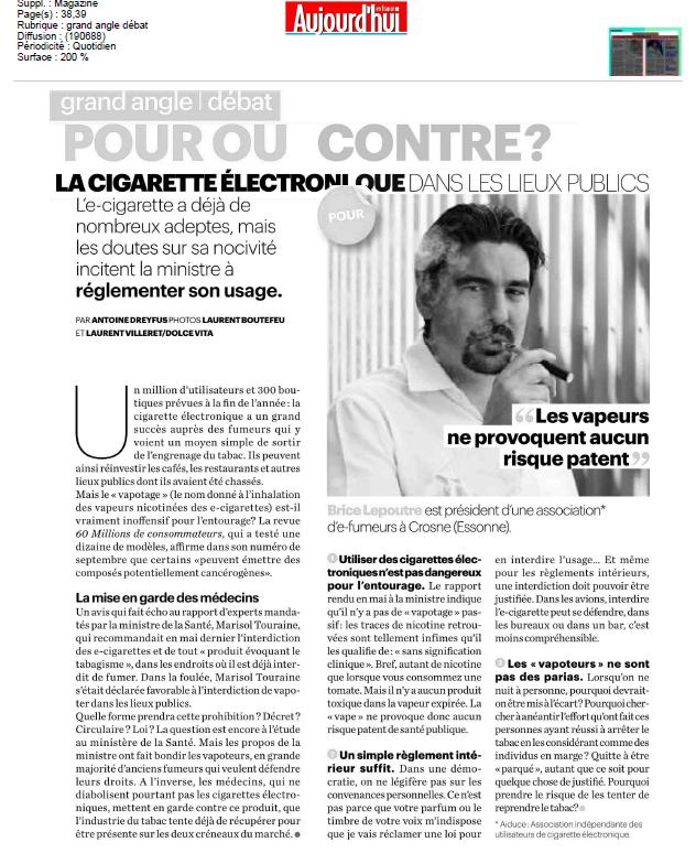 Article E-cig Parisien 30.08.13