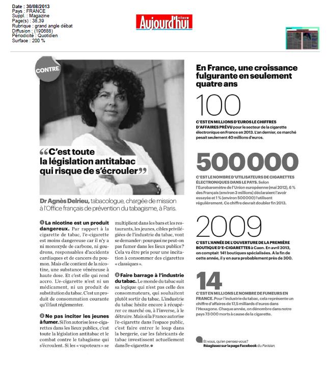 Article E-cig Parisien 30.08.132