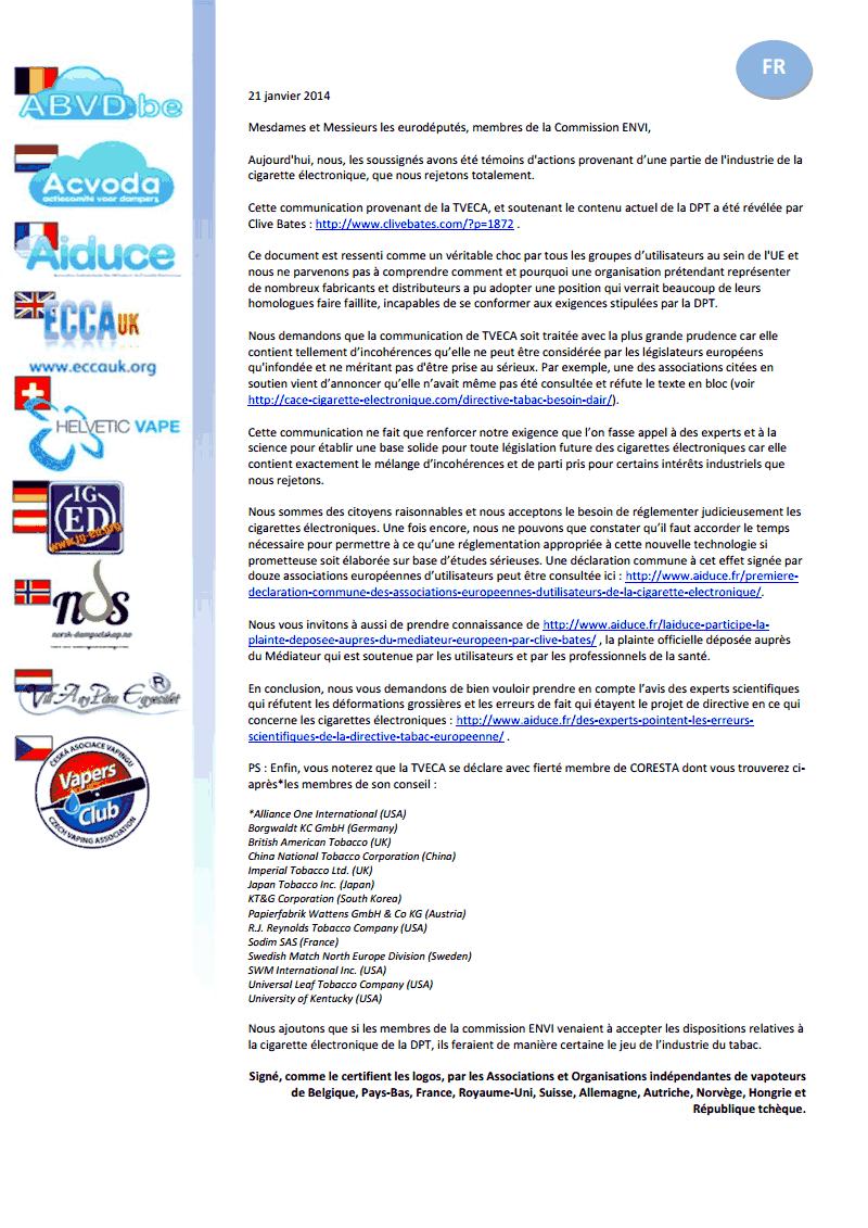 Contra TVECA letter FR