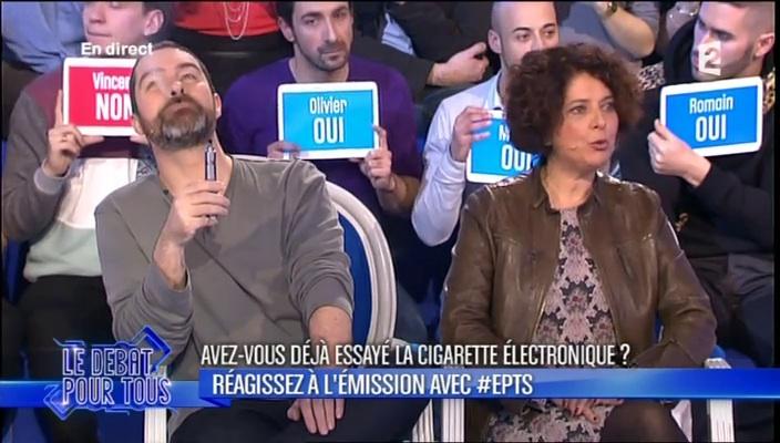 28 février 2014 l'Emission Pour Tous Sébastien Bouniol, Vice-Président de l'AIDUCE, et Agnès Delrieu, chargée de mission à l'Office Français de prévention du Tabagisme, invités de Laurent Ruquier
