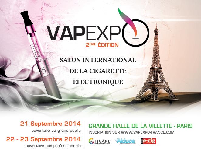Bient t le vapexpo et toujours gratuit pour les adh rents for Salon cigarette electronique
