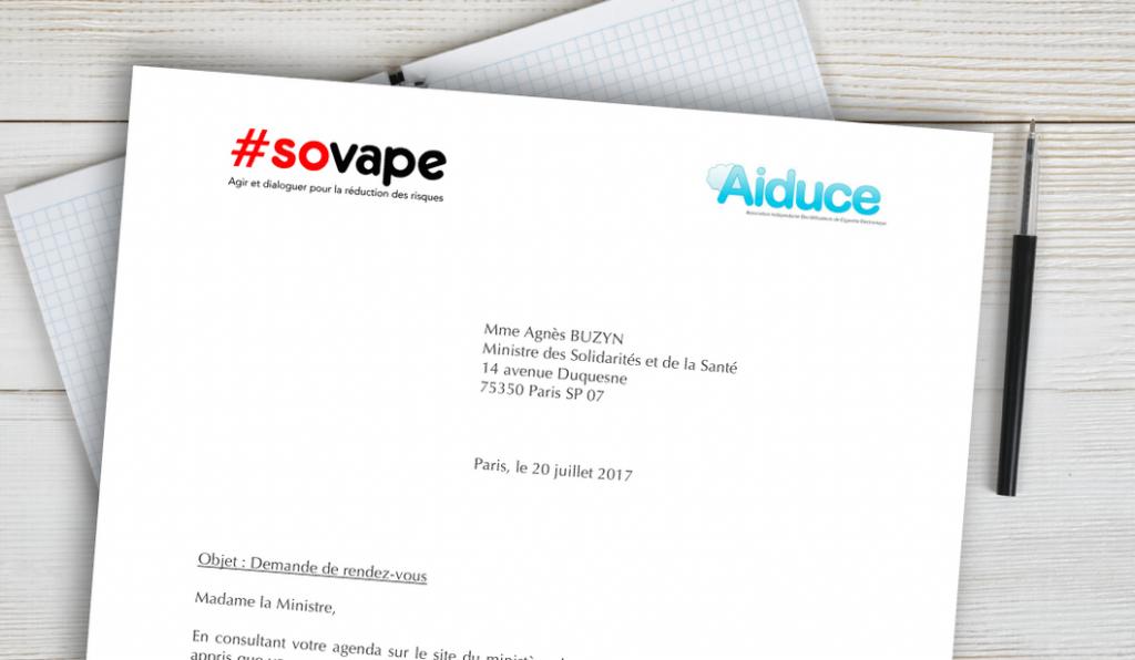 courrier Aiduce et SOVAPE du 20 juillet 2017