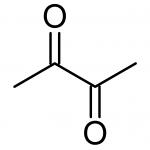 Diacétyle, structure
